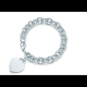 Tiffany and Co. AUTHENTIC Heart sterling bracelet!